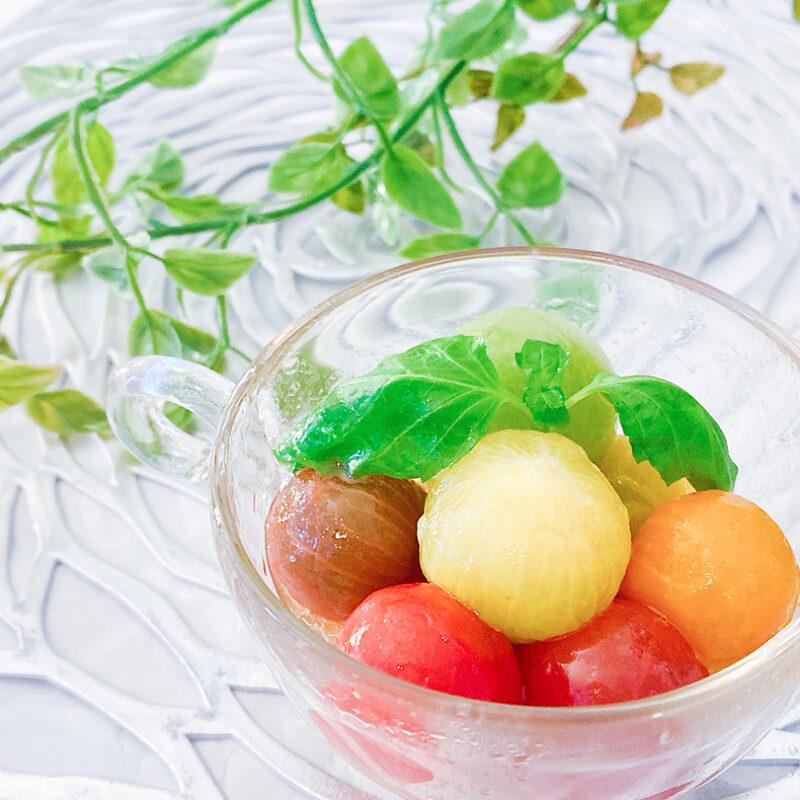 冷やしておいしいオリーブオイルとはちみつが香るジュエリートマトのハニーマリネのレシピ
