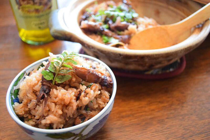 ホタルイカの炊き込みご飯