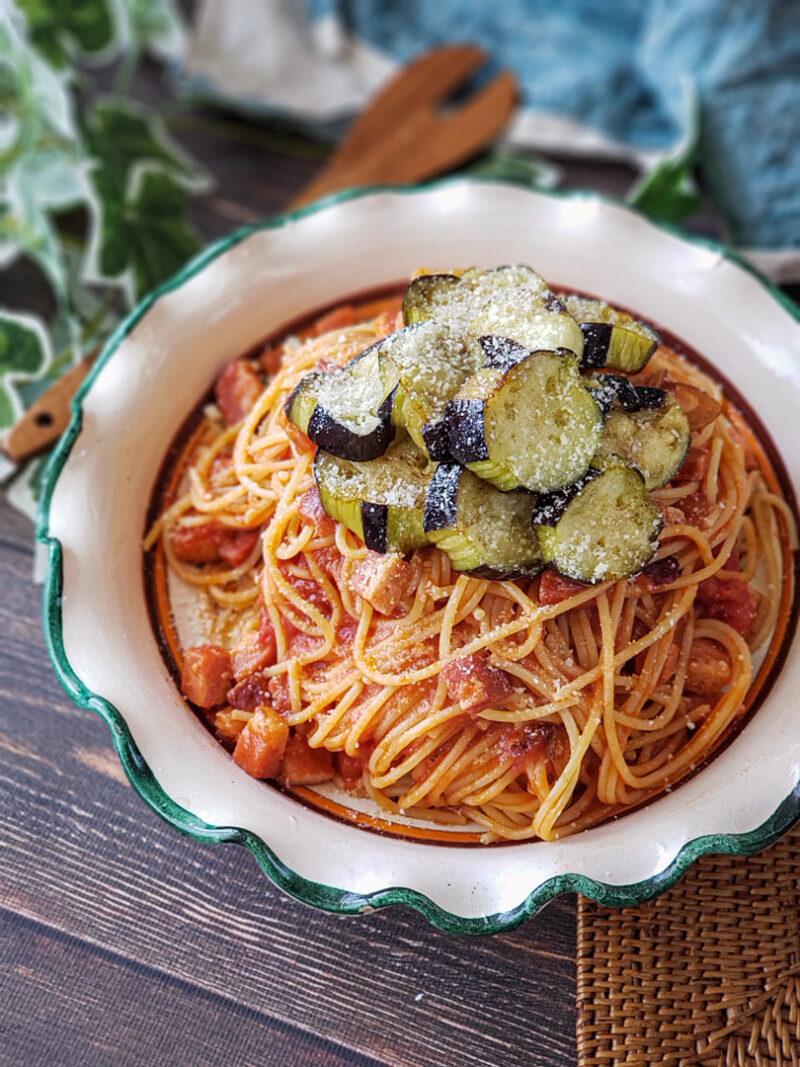 【プロが教えるパスタレシピ】とろとろ揚げなすのトマトソースパスタ