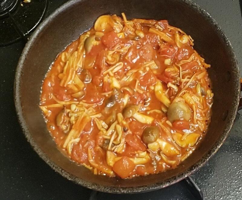 トマトソースの完成