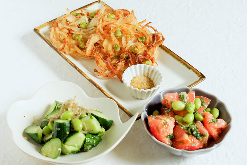 かき揚げを上手に揚げるポイントつき!枝豆を使った夏野菜レシピ3選