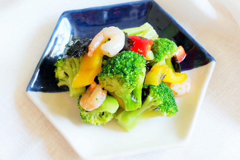 夏バテ予防におすすめ!えびと彩り野菜の海苔マリネの簡単レシピ
