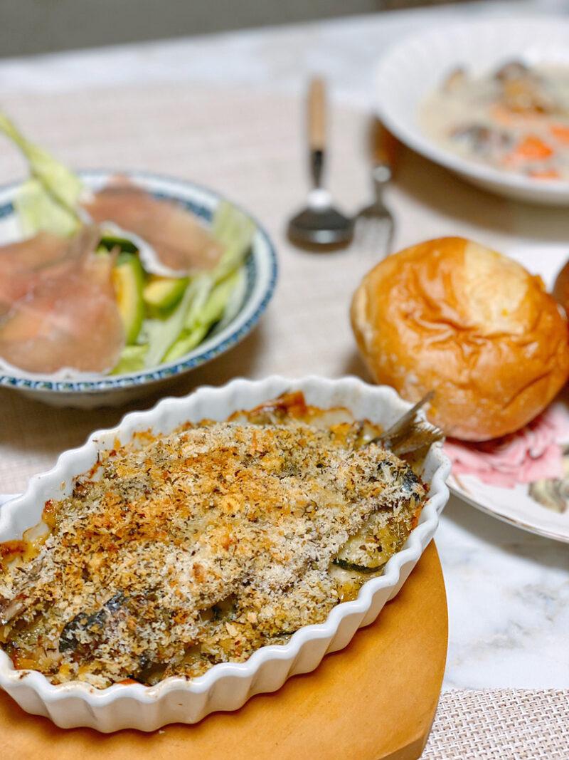 おうちでレストラン気分になれる!鰯(イワシ)のミルフィーユ香草焼き