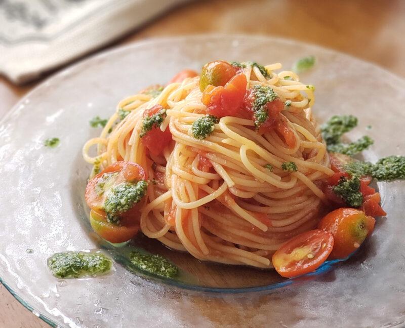 【プロが教えるパスタレシピ】自家製バジルソースの冷製トマトスパゲッティ