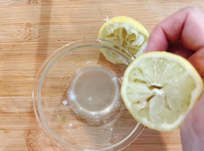レモンはぎゅっと絞る
