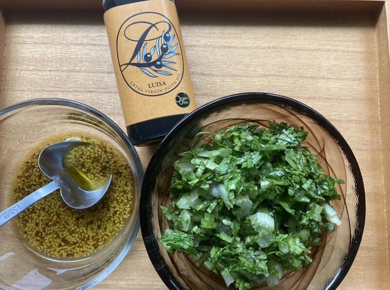 セロリのレモンオリーブオイルサラダの作り方